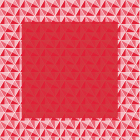 Jewel 24x24 in coral red H3