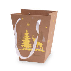 Carrybag Winter Wonderland 17/13x11/11x20cm gold