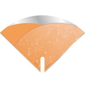 Sleeve Moon Fashion Notes 40x40cm orange