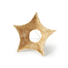 Bouquet holder Sisal Star 25cm gold