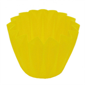 Cupcake container 5.5 in yellow (lemon)