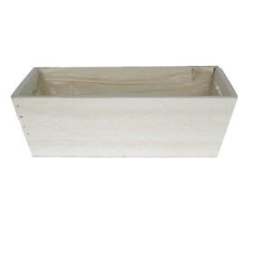 Wooden planter 26x15x8.5cm white