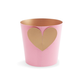 Potcover Crystal Love ES12 pink/gold