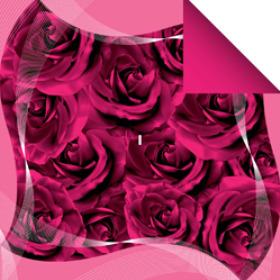 Sheet Swirl rose 60x60cm pink