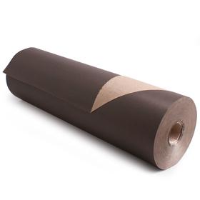 Rol Bruin Kraftpapier 50cm x 400m 50g/m2 FSC Mix zwart