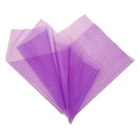 Organza 20x28in purple with 3in hole