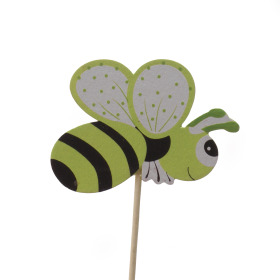 Summer Bee 7cm on 50cm stick green