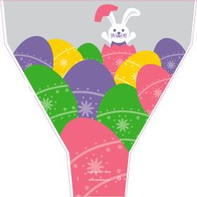 Sleeve Easter Bunny 54x44x12cm