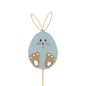 Bunny Doodle 10cm op 50cm stok FSC Mix blauw
