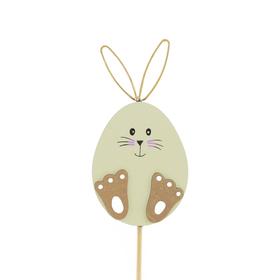 Bunny Doodle 10cm op 50cm stok FSC Mix groen