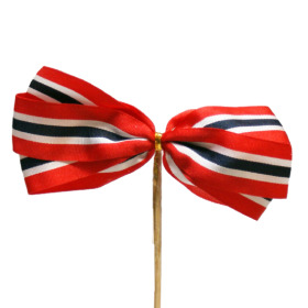 Bow Norwegian Flag 9cm on 50cm stick