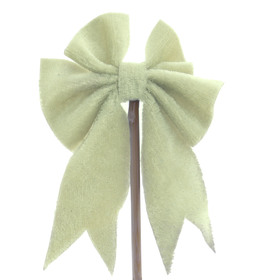 Bow Gabbana 3.5cm on 50cm stick green