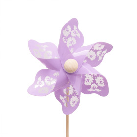 Windmill Jazz 9cm on 50cm stick lilac