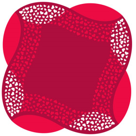 Artline Hearts Sheet 24x24 in red