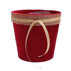 Pot Fine Velvet 5 in red