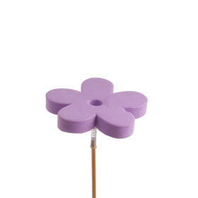 Flower Eva 7cm on 50cm stick lilac