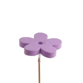 Bloem Eva 7cm op 50cm stok lila