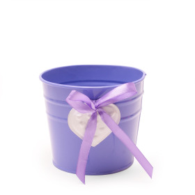 Pot Zinc Heart ES12 puple/white