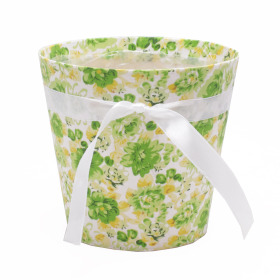 Potcover Flowers ES12 green