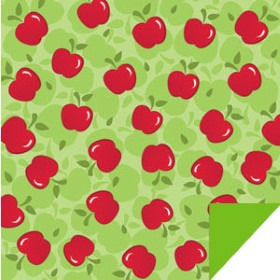 APPLES 24X24 IN GREEN