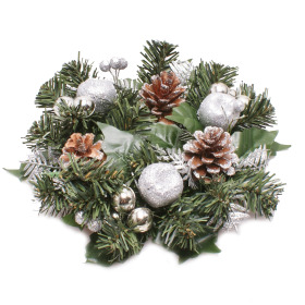 Wreath Luxury 25cm silver
