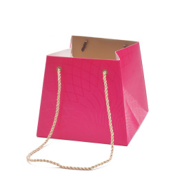 Carton bag Rising Sun 13/13x17/17x15cm cerise