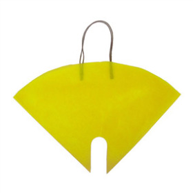 FLOWERBAG NONWOVEN YELLOW 16X16 IN