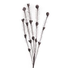 Fluffy 25cm on 35cm stick black
