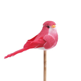 Bird Bibi 10cm on 50cm stick red