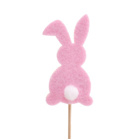 Baby Bunny 7cm on 10cm stick pink