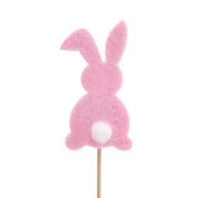 Haas Baby Bunny 7cm op 10cm stok roze