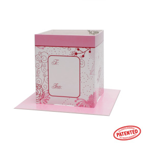 Card Pot Fantasy Garden 8.5x8.5x10cm pink