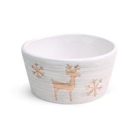 Ceramic bowl Caribou Ø15.5cm white