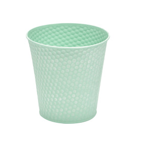 Zinc Pot Honeycomb Ø6 H5.7 in green