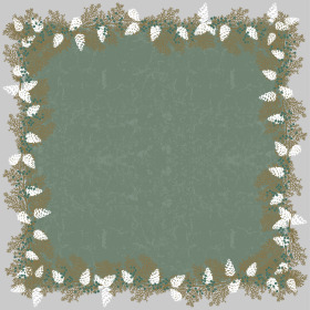 Garland 24x24 in green
