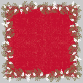 Garland 24x24 in red