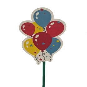 Celebration Balloons 9cm on 50cm stick