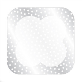 DOTS SHEET 24X24 IN WHITE/SILVER