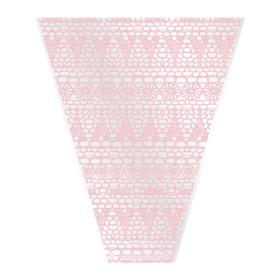 Sleeve Vintage Lace V-shape 40x30x10cm pink