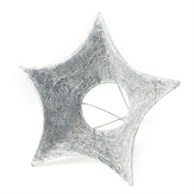 Bouquet holder Sisal Star 25cm silver