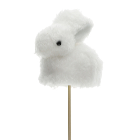Rabbit Bibi 10cm on 50cm stick white