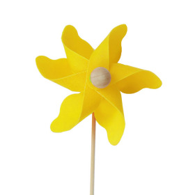 Windmill Solid 3.5 in on 20 in stick yellow