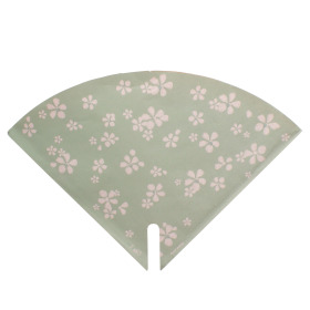 Sleeve Floral Stamp 35x35cm green
