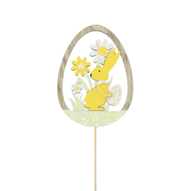 Bunny Atwell 8cm op 50cm stok FSC Mix geel