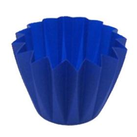CUPCAKE CONTAINER 11 CM DARK BLUE