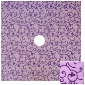 Organza Baroque 24x24in lilac with hole