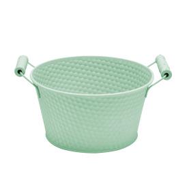 Zinc Bowl Honeycomb Ø8.8 H4in green
