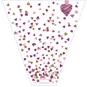 Confetti Love 21x14x4in pink/purple