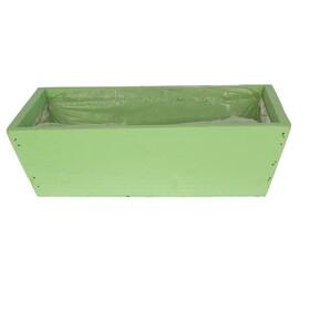 Wooden planter 26x15x8.5cm light green