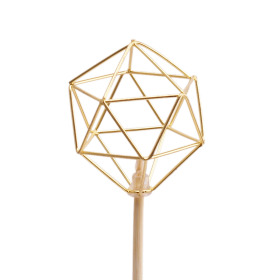 Royal Diamond 7cm on 50cm stick gold